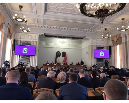 Міський голова Микола Бакшеєв взяв участь у позачерговій сесії Харківської обласної ради.