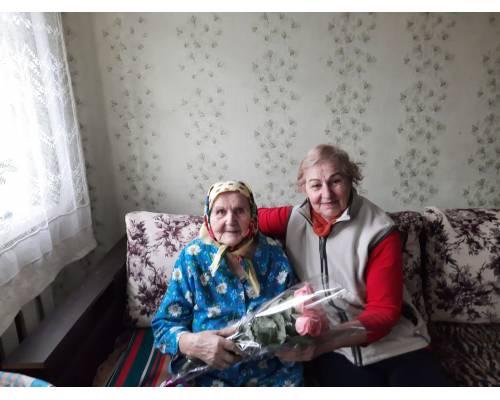 Вітаємо зі сторічним ювілеєм учасника війни, мешканку с.Високе -  Басову Марію Миколаївну!
