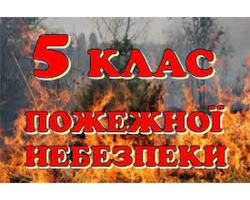 Попередження про  стихійні  та  небезпечні гідрометеорологічні  явища,  різкі  зміни  погоди: На Харківщині - 5 клас пожежної небезпеки!