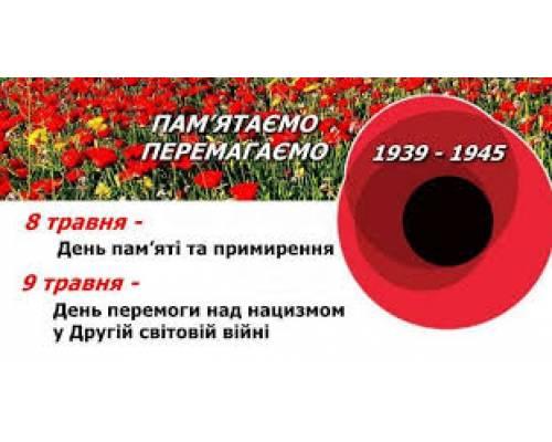 Вітання до 75-ї річниці перемоги над нацизмом у Другій світовій війні та Дня пам'яті та примирення