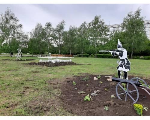 Громадський бюджет: біля Палацу культури «Хімік» з'явились паркові інсталяції