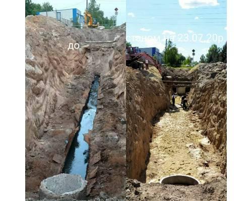 Про поточний стан робіт з ремонту колектору на головному перехресті міста станом на 23 липня 2020 року