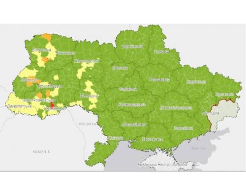 Харківська область – у «зеленій» зоні карантину