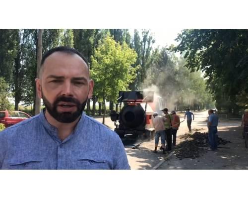 Микола Бакшеєв. Оперативна інформація міського голови: Робота рециклеру асфальтобетону